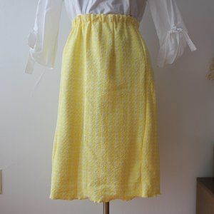 Vintage Pastel Yellow Skirt